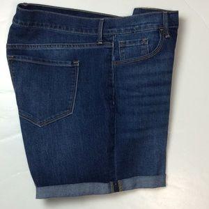 Old Navy Womens Cotton Blend Denim Shorts Sz 16
